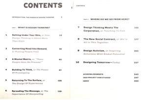Traditional Table of Contents from Change by Design, by Tim Brown