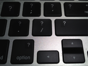 MacBook with Several Question Mark Keys
