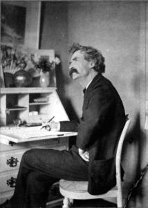 Imagination and Creativity Illustrated: Mark Twain at his Writing Desk