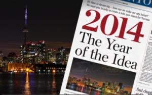 Toronto Star, January 1, 2014: 2014 the Year of the Idea