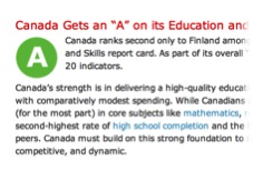 How Canada Performs - Education - courtesy of the Conference Board of Canada
