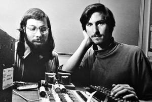 Steve Jobs and Steve Wozniak - courtesy of Bloomberg.com
